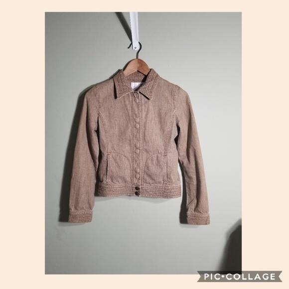 Rebecca Taylor Jackets & Blazers - Rebecca Taylor tan denim crop moto jacket sz 2